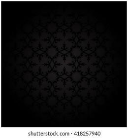 background black wallpaper pattern vintage decoration textile deco