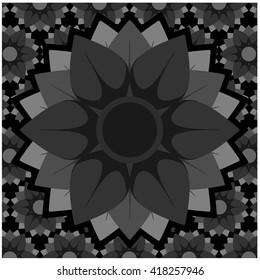background black wallpaper pattern vintage decoration textile Decorative
