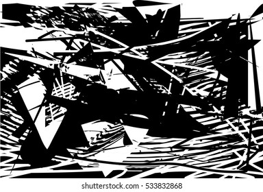 Background black and white abstract texture vector with dark spots