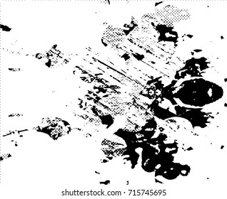 Background black and white  abstract  texture vector illustration with  dark spots,  scratches, dots and lines Print Distress Background