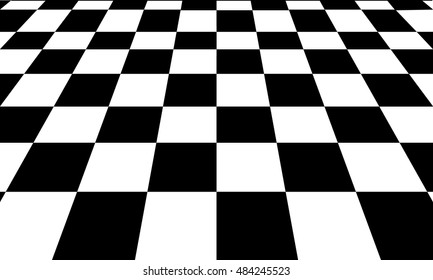 Background of Black and white chess board.