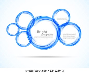 Background with blue circles. Abstract illustration