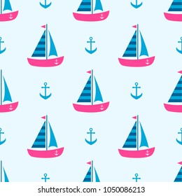 background with boats and anchors