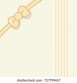 Background, Bowknot, Art, Light Yellow