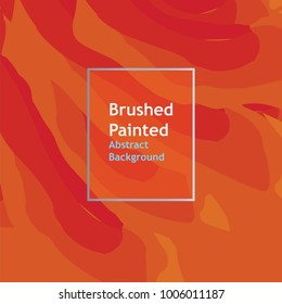 background brushed painted abstract line  orange color , templates for cover posters, banners, flaers,