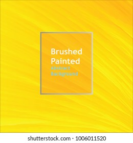 background brushed painted abstract line  yellow color  templates for cover posters, banners, flaers,
