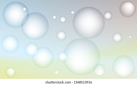 Background with bubbles. For template cell phone backgrounds. Bright Gradient Color Vector illustration