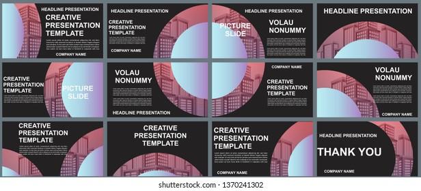 Background Business Presentation Templates. Design Vector Infographic Elements For Presentation Slides, Annual Report, Business Marketing, Brochure, Flyers, Web Design And Banner, Presentation.