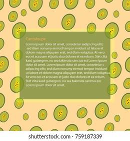 background  cantaloup fruit
