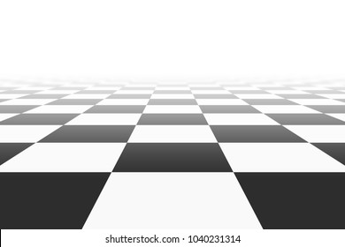 background with checkered surface in perspective view. vector illustration