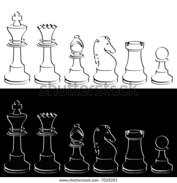 background of Chesspieces black and white