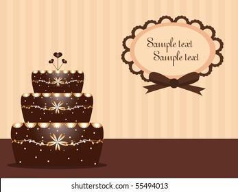 background with chocolate cake