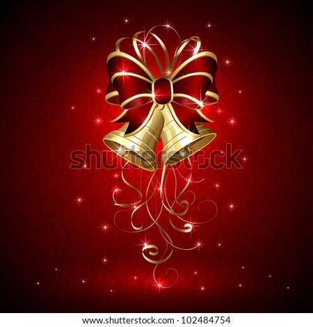 Background Christmas Bells Seamless Wallpaper Illustration