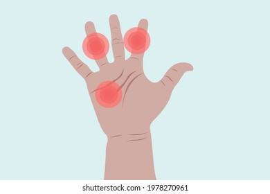Background of Close up Hand pain