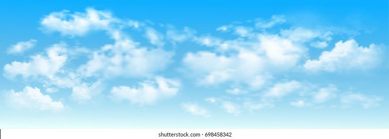 Background with clouds on blue sky. Blue Sky vector