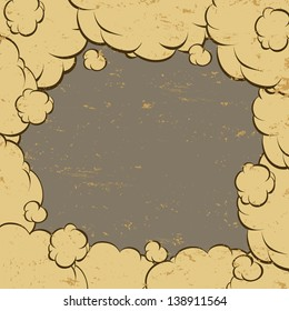 Background clouds, vector illustration