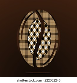 Background of coffee bean. Vector.