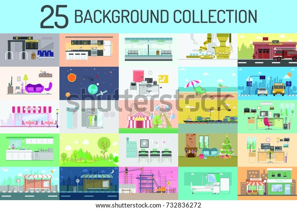 Background Collection Set, for Business, Video Marketing, and for background scene motion graphic