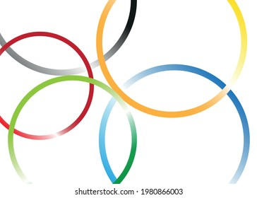 Background with colored decorative circles.