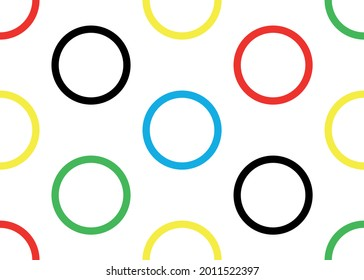 Background from colored rings. Vector graphics.