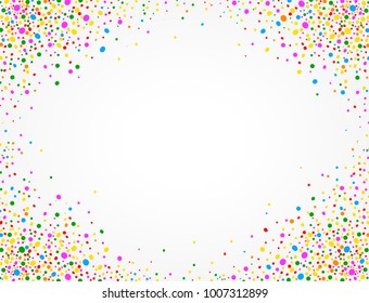Background with colorful confetti and space to put text in the middle