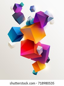 Background of colorful cubes