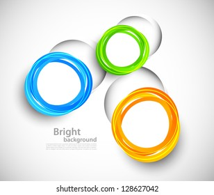 Background with colorful cut out circles