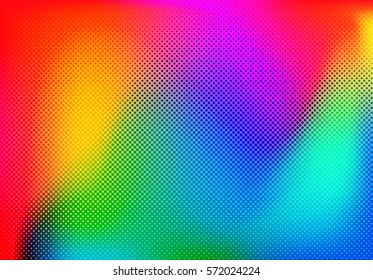 Background colorful halftone gradient vector