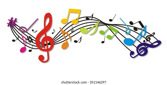 background with colorful music notes