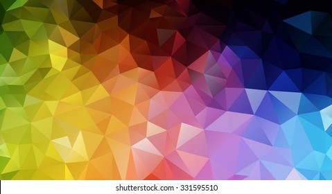 Background of colorful polygons