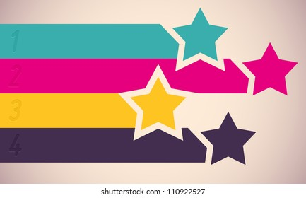 Background with colorful stars. Vector illustration.