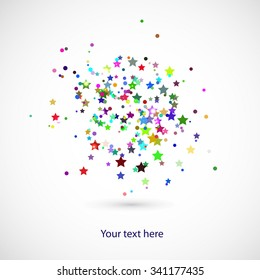 background with colors stars and circles for your text