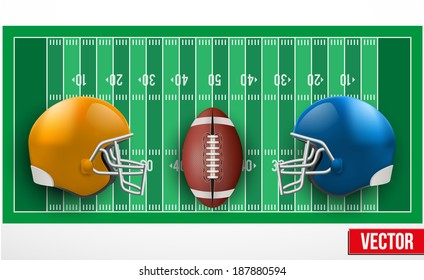 Background of competition teams in American Football. Vector illustration.