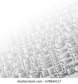 Background consisting of words, vector illustration clip-art