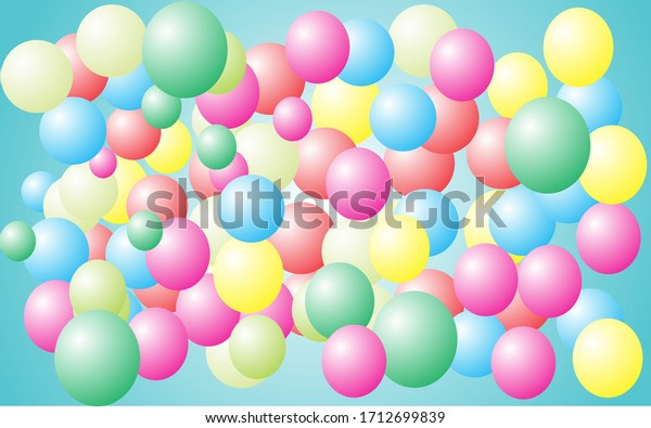 background created from colorful balloons