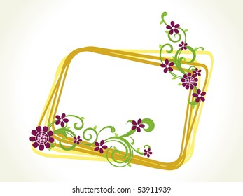 background with creative floral pattern frame, vector illustration