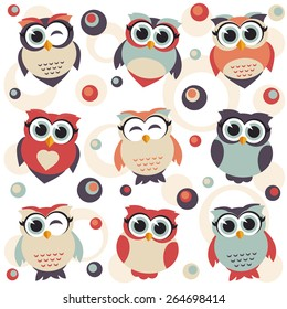 Royalty Free Cute Owl Cartoon Wallpaper Stock Images Photos