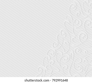 Background with decorative vignettes lines. Vector illustration. Space for text.Gray on white .