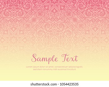 Background design in arabesque style. Gradual texture, with space for adding text, perfect for backgrounds, wallpapers and invitation designs. Vector illustration.