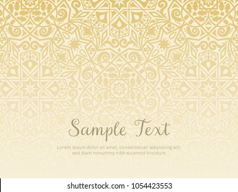 Background design in arabesque style. Gradual texture, perfect for backgrounds, wallpapers and invitation designs. Vector illustration.