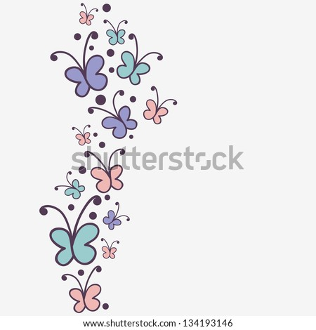 Background Design Cute Butterflies Stock Vector Royalty Free