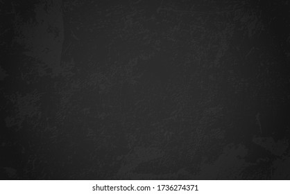 Background for design menu cafe, restaurant, canteen. Chalkboard banner for pizza, drink, coffee, meal, beer, burger.  Blank black texture for delivery food. Grunge black board with space for text
