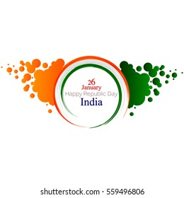 Background design for republic day of India with happy republic day wish