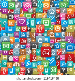 Background from a Different App Icons. Vector
