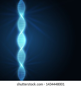 Background of the DNA molecule. to design websites pharmacies, laboratories, hospitals, clinics. Blue color with highlights.