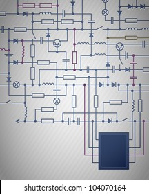 Electric Circuit Diagram Images, Stock Photos & Vectors | Shutterstock