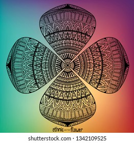 Background with ethnic abstract flower