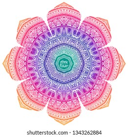 Background with ethnic abstract flower your design