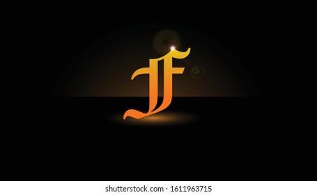 Background F Initial 3D.  The initials F vector.  Initials F for design logos