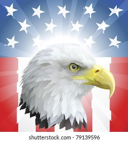 A background featuring American eagle and stars and stripes background